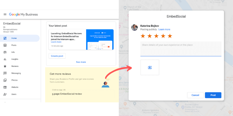 how to get google review link