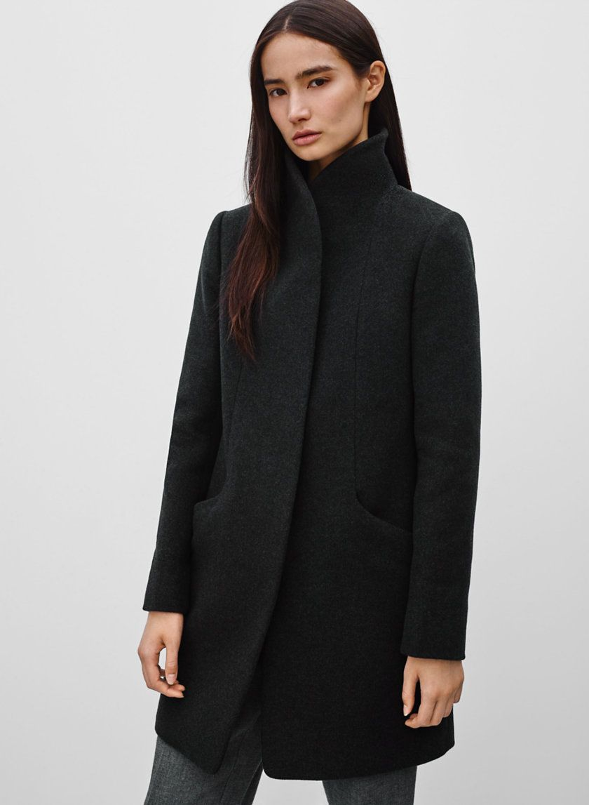 wilfred cocoon wool coat review