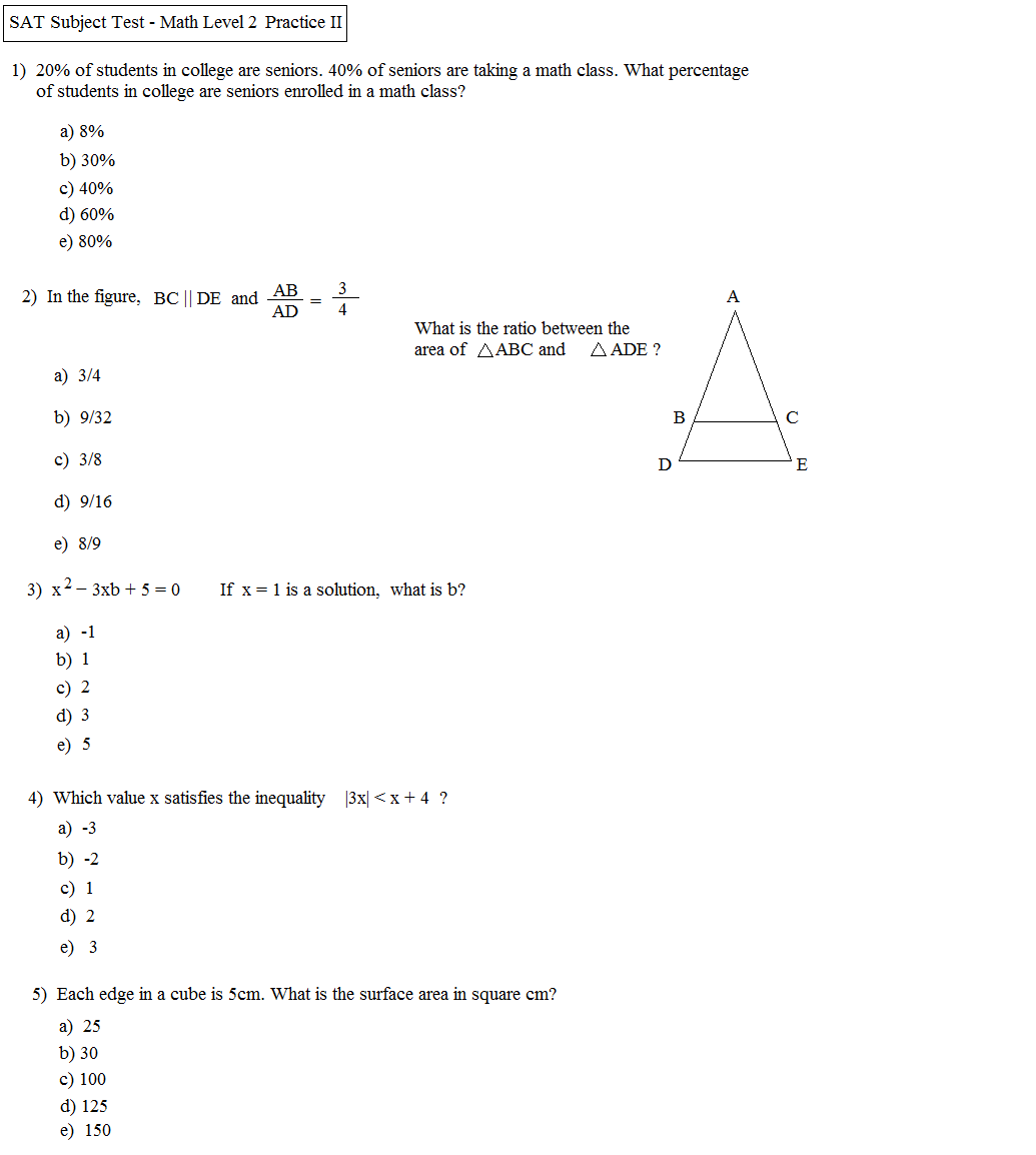 princeton review sat math 2 practice test pdf