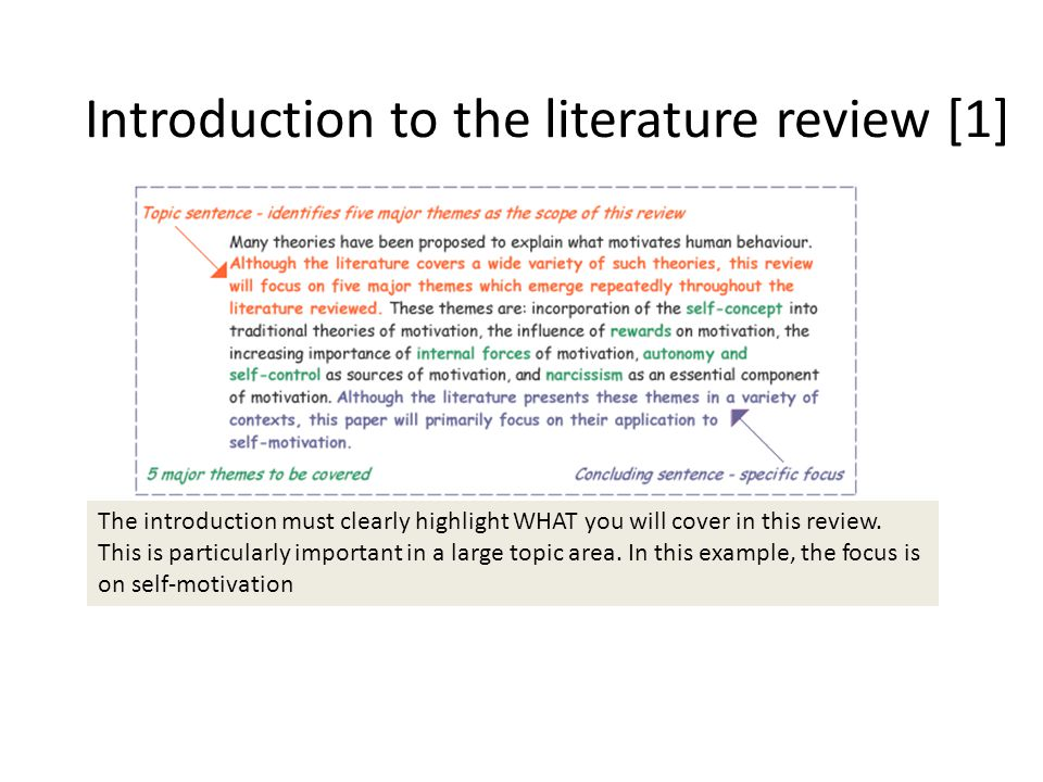 how to write short literature review