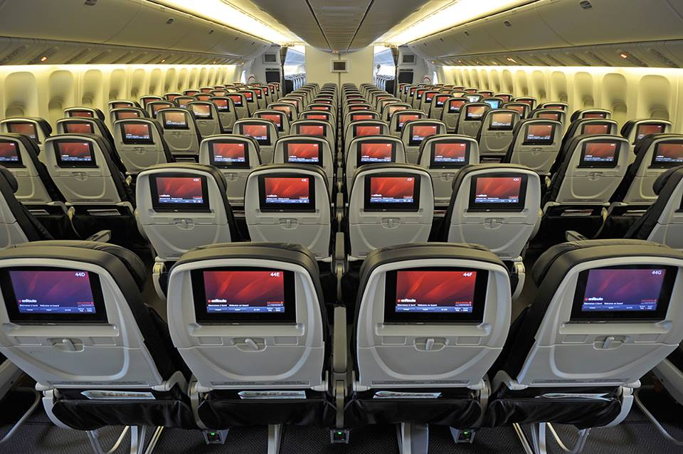 air canada rouge seats review