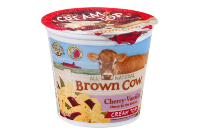 brown cow cream top yogurt review