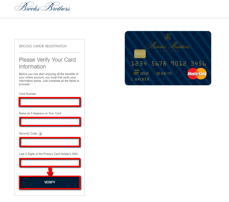 brooks brothers credit card review