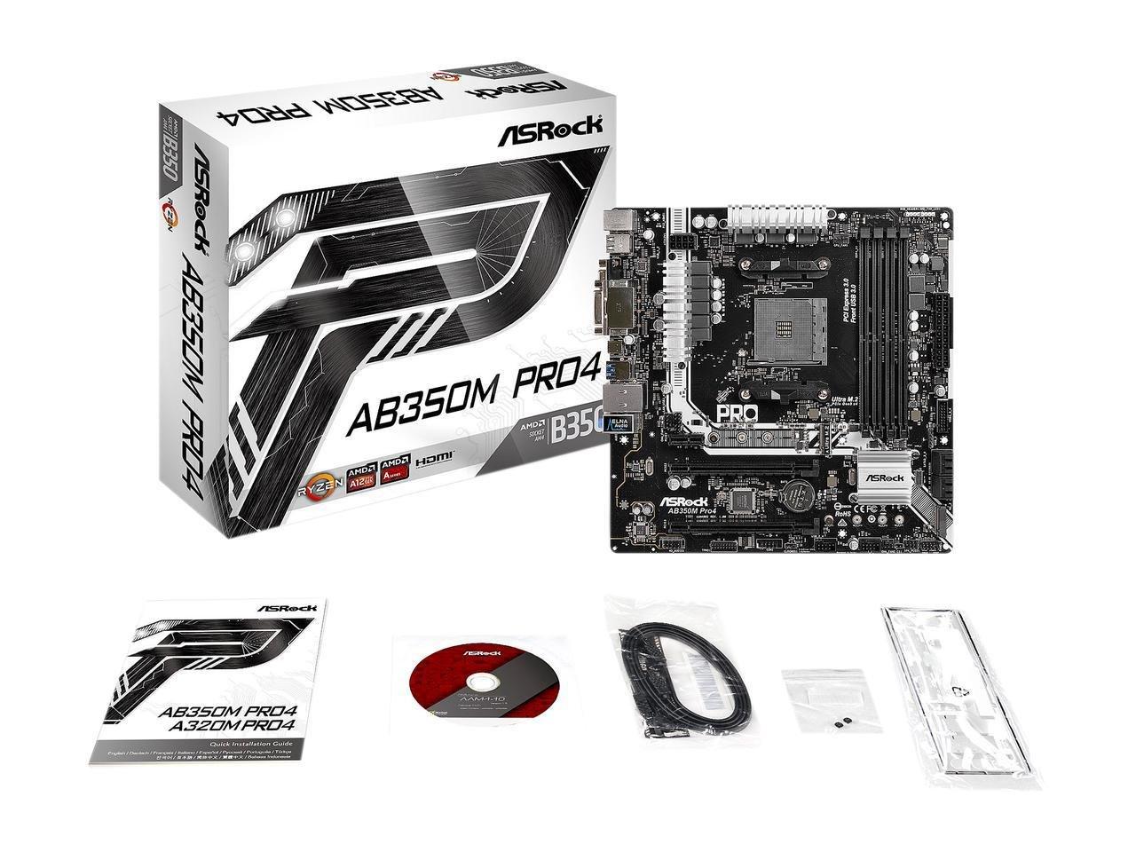 asrock ab350 pro4 am4 amd promontory b350 review