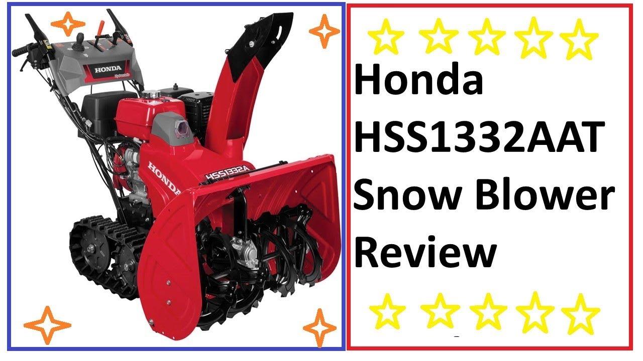 honda track drive snowblower reviews