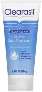 clearasil oil free daily face wash review