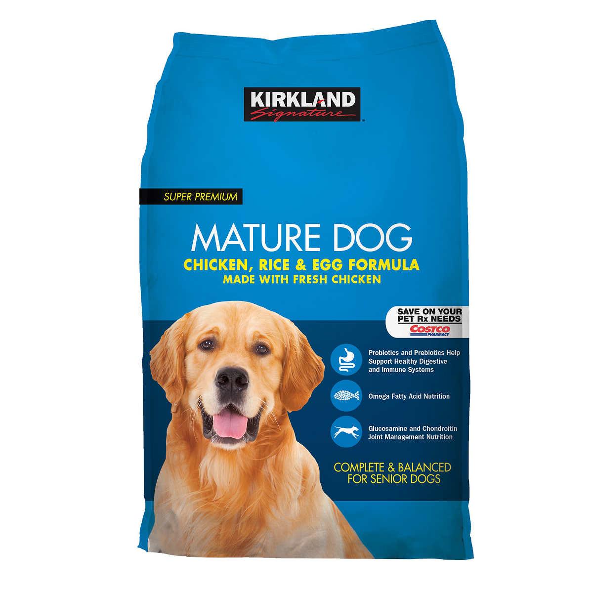 kirkland mature dog food review