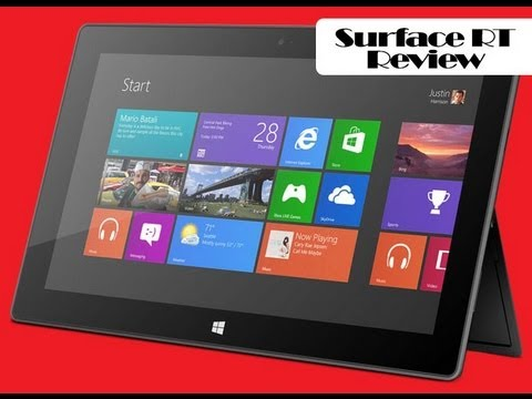 microsoft surface rt review youtube