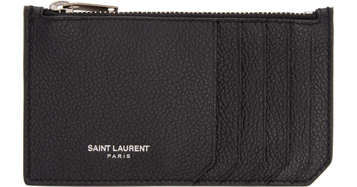 saint laurent fragments card holder review